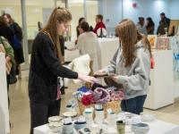 Scene from student sale in the gallery