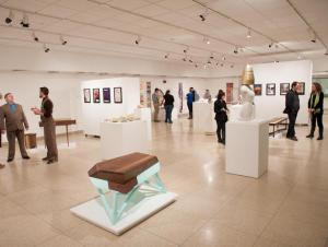 Art Gallery showing with visitors viewing